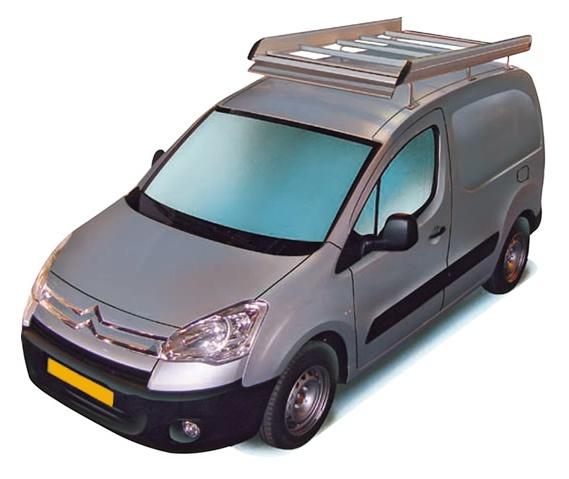 Dachgepäckträger aus Aluminium für Citroen Berlingo, Bj. 2008-2018, Radstand 2728mm L1, mit Heckklappe