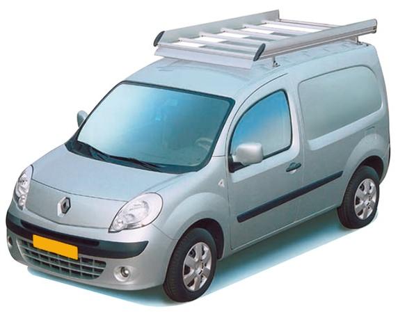 Dachgepäckträger aus Aluminium für Renault Kangoo, Bj. ab 2008, Radstand 2697mm, mit Heckklappe, ohne Dachklappe