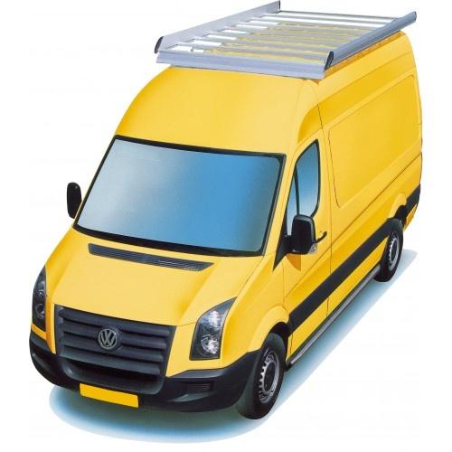 Dachgepäckträger aus Aluminium für Volkswagen Crafter, Bj. 2006-2016, Radstand 3665mm, Normaldach