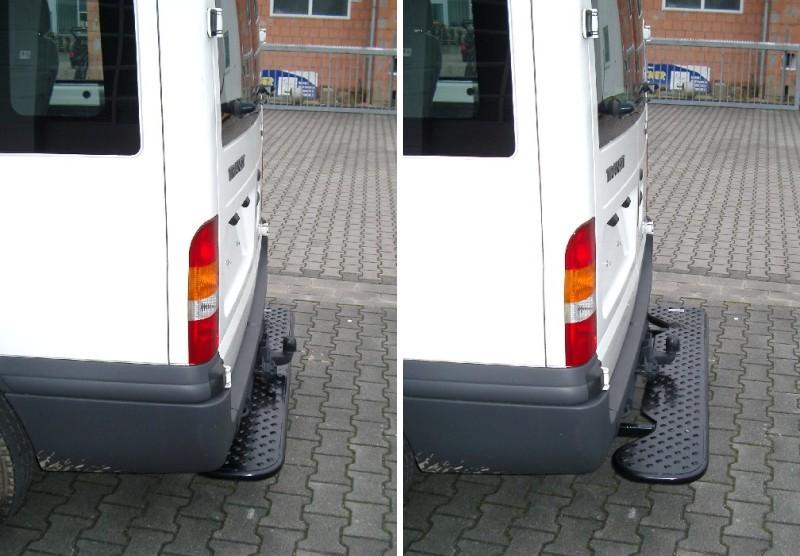 Ausziehbare Hecktrittstufe für Peugeot Boxer, Bj. ab 2006, für Fahrzeuge ohne Anhängerkupplung