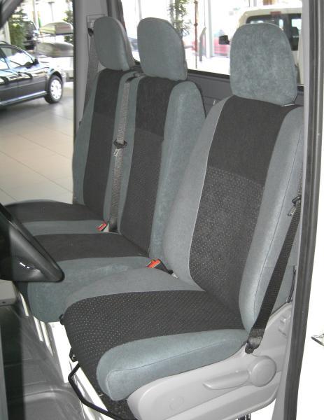 Sitzbezug für Volkswagen T5 Transporter & Caravelle, Bj. 2009-2015, Alcanta, Doppelbank 2. Reihe