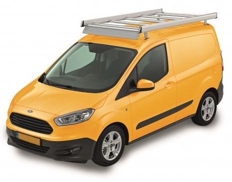 Dachgepäckträger aus Aluminium für Ford Courier, Bj. ab 2014, Radstand 2489mm, Flachdach, mit Hecktüren