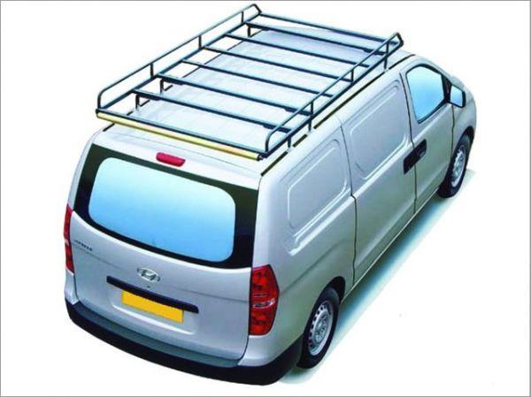 Dachgepäckträger aus Stahl für Hyundai H1, Bj. ab 2008, Radstand 3200mm, Normaldach, mit Hecktüren
