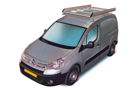 Dachgepäckträger aus Aluminium für Citroen Berlingo, Bj. ab 2008, Radstand 2728mm L2, mit Hecktüren, ohne Dachklappe