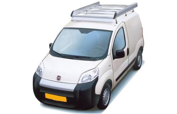 Dachgepäckträger aus Aluminium für Fiat Fiorino, Bj. ab 2008, Radstand 2513mm, Normaldach, mit Heckklappe