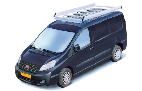 Dachgepäckträger aus Aluminium für Fiat Scudo, Bj. 2007-2016, Radstand 3122mm, Normaldach, mit Hecktüren