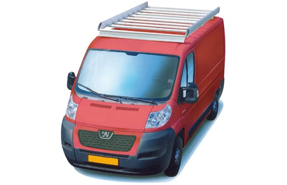 Dachgepäckträger aus Aluminium für Peugeot Boxer, Bj. ab 2006, Radstand 3450mm, Hochdach