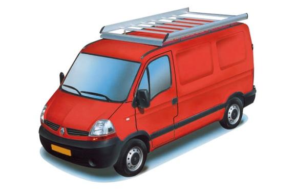 Dachgepäckträger aus Aluminium für Renault Master, Bj. 1998-2010, Radstand 4078mm, Hochdach, L3/H2