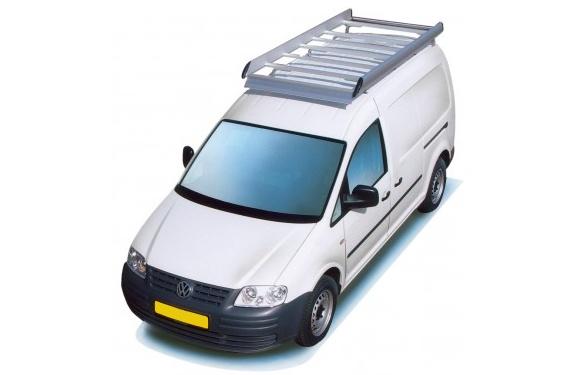 Dachgepäckträger aus Aluminium für Volkswagen Caddy Maxi, Bj. ab 2008, Radstand 3002mm, Normaldach, mit Heckklappe