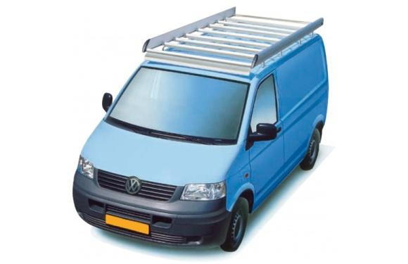 Dachgepäckträger aus Aluminium für Volkswagen T5, Bj. 2003-2015, Radstand 3400mm, Normaldach, mit Hecktüren