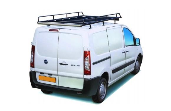 Dachgepäckträger aus Stahl für Fiat Scudo, Bj. 2007-2016, Radstand 3122mm, Normaldach, mit Hecktüren