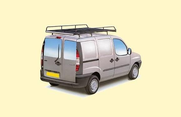 Dachgepäckträger aus Stahl für Fiat Doblo Maxi, Bj. 2005-2010, Radstand 2946mm, mit Hecktüren