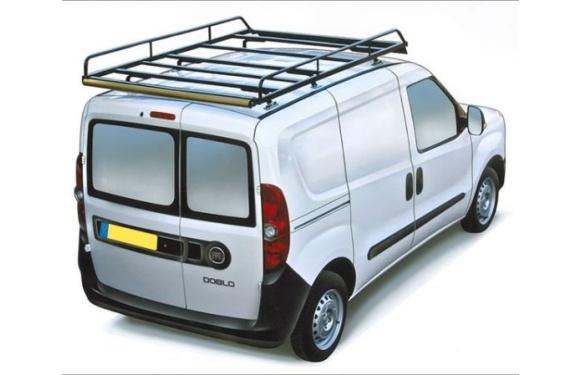 Dachgepäckträger aus Stahl für Fiat Doblo Maxi, Bj. ab 2010, Radstand 3105mm, Normaldach, mit Hecktüren