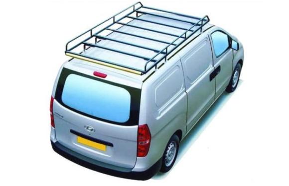 Dachgepäckträger aus Stahl für Hyundai H1, Bj. ab 2008, Radstand 3200mm, Normaldach, mit Heckklappe