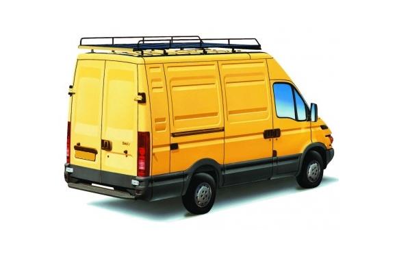 Dachgepäckträger aus Stahl für Iveco Daily, Bj. 2000-2014, Radstand 3950mm, Laderaumvolumen 17,2m³