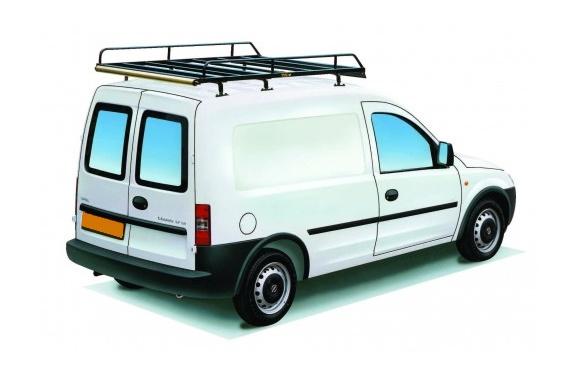 Dachgepäckträger aus Stahl für Opel Combo, Bj. 2002-2011, Radstand 2716mm, Normaldach, mit Heckklappe