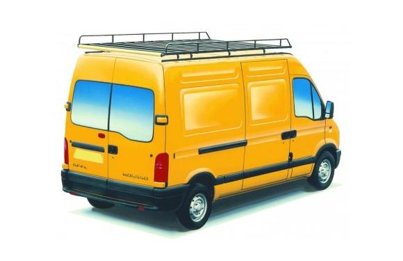Dachgepäckträger aus Stahl für Opel Movano, Bj. 1999-2010, Radstand 3078mm, Hochdach, L1/H2