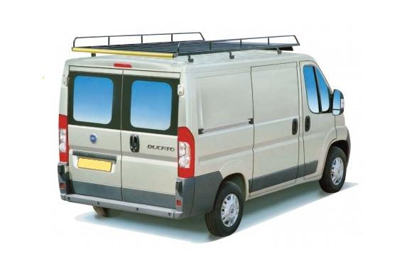 Dachgepäckträger aus Stahl für Peugeot Boxer, Bj. ab 2006, Radstand 4035mm, Hochdach, ohne Überhang
