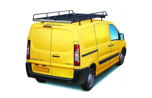 Dachgepäckträger aus Stahl für Peugeot Expert, Bj. 2007-2016, Radstand 3122mm, Normaldach, mit Hecktüren