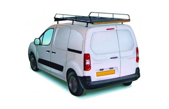 Dachgepäckträger aus Stahl für Peugeot Partner, Bj. 2008-2018, Radstand 2728mm L2, mit Hecktüren