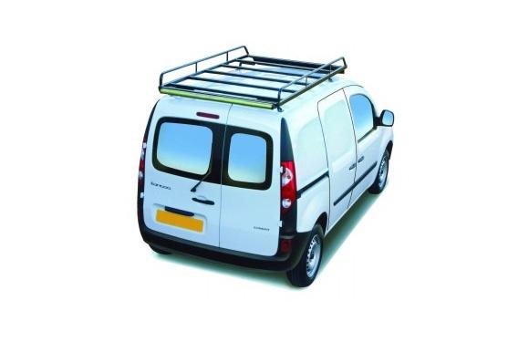 Dachgepäckträger aus Stahl für Renault Kangoo Maxi, Bj. ab 2008, Radstand 3081mm, mit Hecktüren, ohne Dachklappe