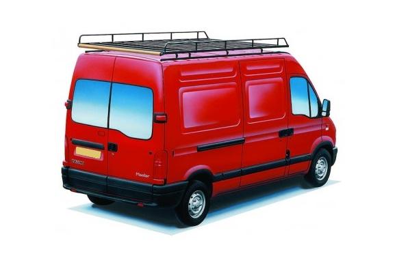 Dachgepäckträger aus Stahl für Renault Master, Bj. 1998-2010, Radstand 3078mm, Hochdach, L1/H2