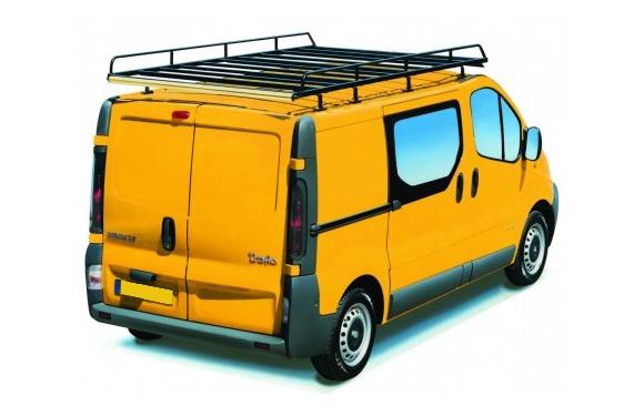 Dachgepäckträger aus Stahl für Renault Trafic, Bj. 2001-2014, Radstand 3498mm, Normaldach, L2/H1, mit Hecktüren