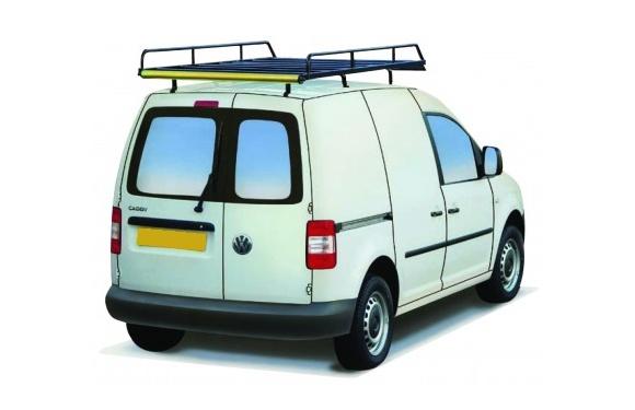 Dachgepäckträger aus Stahl für Volkswagen Caddy, Bj. 2003-2010, Radstand 2682mm, mit Heckklappe