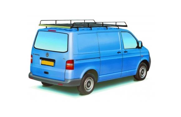 Dachgepäckträger aus Stahl für Volkswagen T5, Bj. 2003-2015, Radstand 3000mm, Normaldach, mit Heckklappe