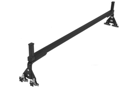 Querträger mit Randbegrenzern für Fiat Doblo, Bj. ab 2010, Normaldach, mit Fixpunkt-Montage ohne Dachreling