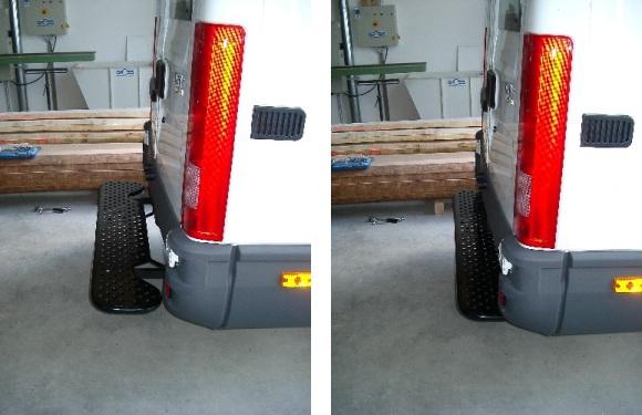 Ausziehbare Hecktrittstufe für Iveco Daily, Bj. 2000-2014, für Fahrzeuge ohne Anhängerkupplung