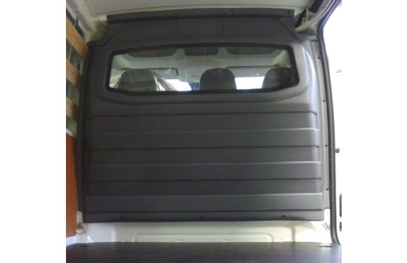 Trennwand mit Fenster für Citroen Jumpy, Bj. 2007-2016, für Normal- und Hochdach, aus ABS-Kunststoff stoffbezogen
