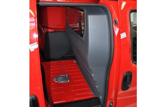 Trennwand ohne Fenster für Fiat Fiorino, Bj. ab 2008, aus ABS-Kunststoff stoffbezogen