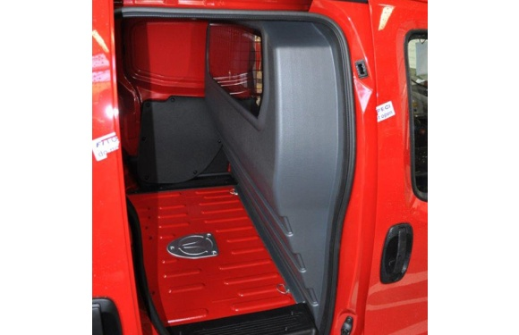 Trennwand mit Fenster für Peugeot Bipper, Bj. ab 2008, aus ABS-Kunststoff stoffbezogen