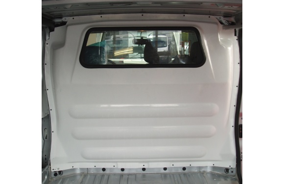 Trennwand ohne Fenster für Opel Vivaro, Bj. 2001-2014, für Normal- und Hochdach, aus Polyester stoffbezogen