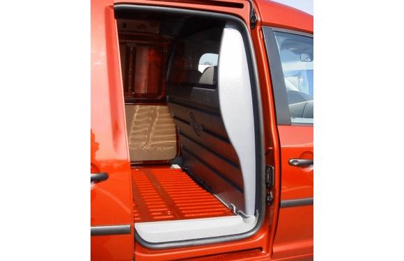 Trennwand ohne Fenster für Volkswagen Caddy, Bj. ab 2008, aus ABS-Kunststoff stoffbezogen
