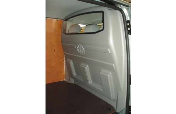 Trennwand mit Fenster für Volkswagen T5, Bj. 2003-2015, für Normal- und Hochdach, aus ABS-Kunststoff stoffbezogen