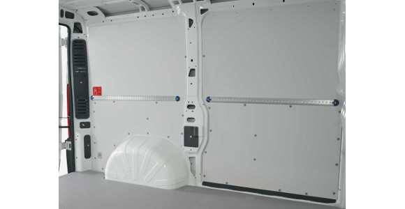 Seitenwandverkleidung für Nissan NV400, Bj. ab 2010, Radstand 4332mm, Gesamtlänge 6198mm, Hochdach, L3H2, Frontantrieb