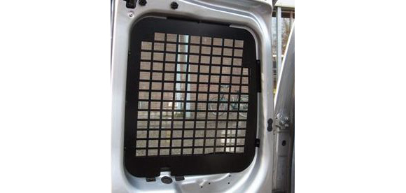 Fensterschutzgitter für Fiat Doblo, Bj. ab 2010, Normaldach, für Fahrzeuge mit Heckklappe mit Wischanlage und Bremslicht