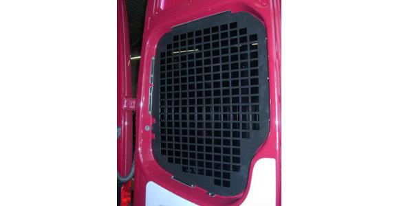 Fensterschutzgitter für Ford Transit, Bj. 2006-2014, für Fahrzeuge mit Hecktüren mit Wischanlage