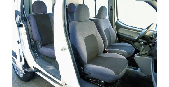 Sitzbezug für Fiat Doblo, Bj. 2001-2010, Alcanta, Einzelsitz (Beifahrersitz) mit Seitenairbag