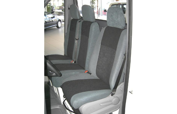 Sitzbezug für Renault Master, Bj. ab 2010, Alcanta, Doppelbank vorn mit 2-teiliger Sitzfläche