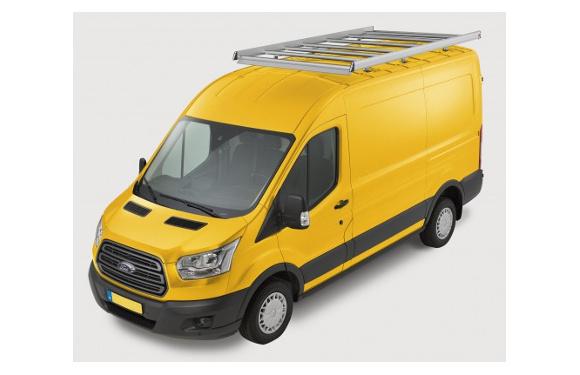 Dachgepäckträger aus Aluminium für Ford Transit, Bj. ab 2014, Radstand 3750mm, mit Rahmenverlängerung, Hochdach, L4H3