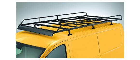 Dachgepäckträger aus Stahl für Ford Custom, Bj. ab 2012, Radstand 2933mm, Flachdach, mit Heckklappe