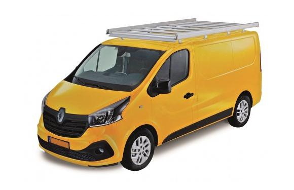 Dachgepäckträger aus Aluminium für Renault Trafic, Bj. ab 2014, Radstand 3098mm, Normaldach, L1/H1, mit Hecktüren
