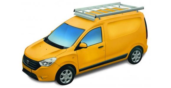 Dachgepäckträger aus Aluminium für Dacia Dokker Express, Bj. ab 2013, Radstand 2810mm, ohne Dachreling