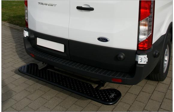 Ausziehbare Hecktrittstufe für Ford Transit, Bj. ab 2014, ohne Anhängerkupplung