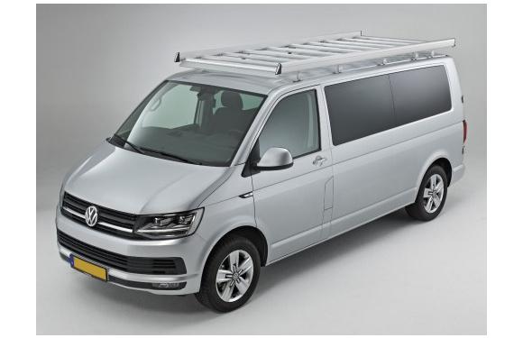 Dachgepäckträger aus Aluminium für Volkswagen T6, Bj. ab 2015, Radstand 3400mm, Normaldach, mit Heckklappe