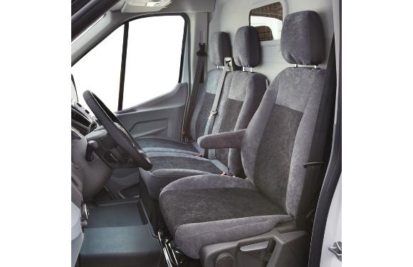 Sitzbezug für Ford Transit, Bj. ab 2014, Alcanta, Einzelsitz (Fahrersitz) mit Seitenairbag