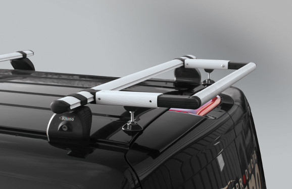 Heckrollen-System für Lastenträger KammBar Opel Movano, Bj. ab 2010, Radstand alle, für Normal- und Hochdach